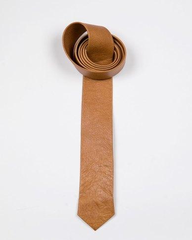 JCclick Leather Tie Butternut