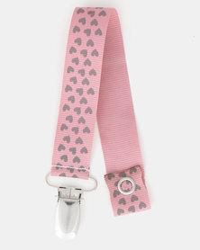 Pickallily Heart Dummy Chain Pink