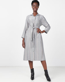 Nucleus Kismet Shirt Dress Silver/Black
