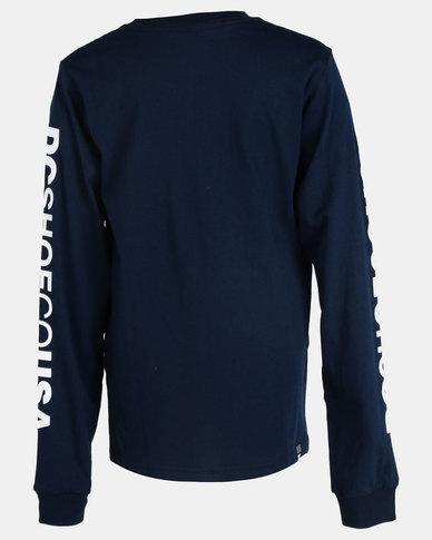 fdfe09794a DC Boys Square Star Long Sleeve T-Shirt Black Iris | Zando
