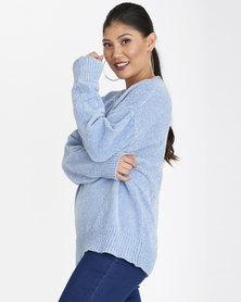 Contempo Chenille Knitwear Blue