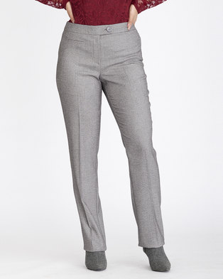 b796a692810 Contempo Textured Straight Leg Pants Grey