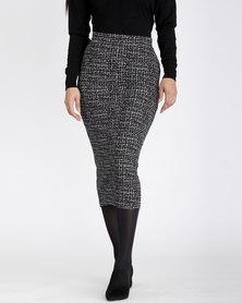 Contempo Printed Skirt Black