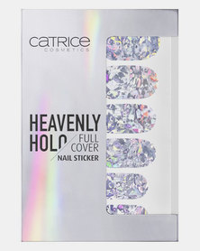 01 Heavenly Holo Full Cover Nail Sticker Silver by Catrice
