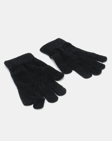 Queenspark Chenille Glove Black
