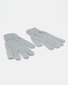 Queenspark Chenille Glove Charcoal
