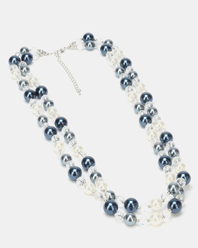 Queenspark Double Row Pearls Necklace Multicoloured