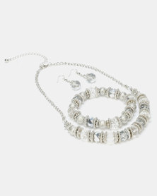 Queenspark 3 Piece Crystal & Silver Jewellery Pack Navy