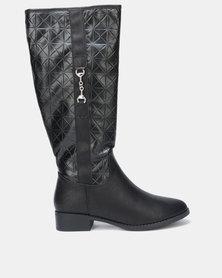 Queenspark Long Gusset Boots Black