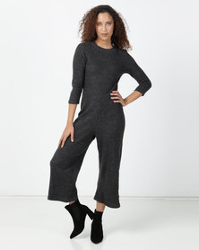 Legit Turtle Neck Culotte Jumpsuit with 3/4 Sleeve