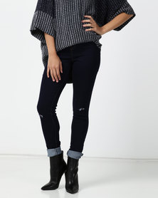 Legit Slash Knee Tube Skinny Jeans Ink