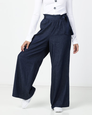 Legit Soft Denim Wideleg Pants Ink