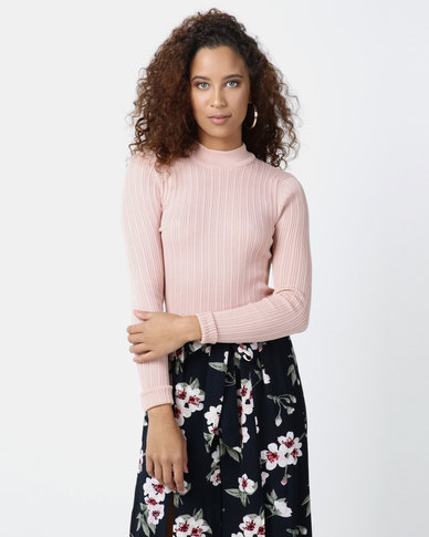 Legit Turtleneck Fitted Sweater Light Pink
