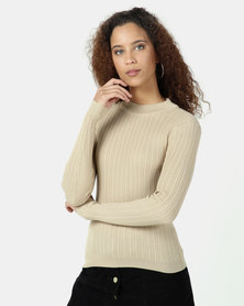 Legit Turtleneck Fitted Sweater Stone
