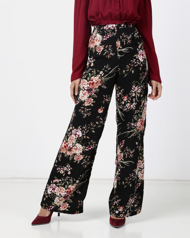 Legit Floral Printed Wide Leg Multi