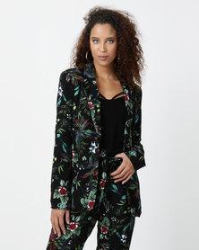 Legit Floral Printed Blazer Multi