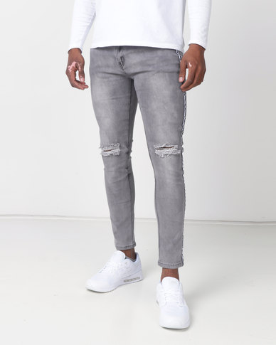 K-Star 7 Beetle Super Skinny Stretch Jeans Storm Grey