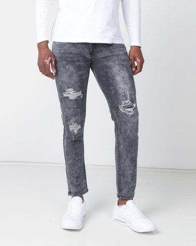 K-Star 7 Blast Skinny Stretch Jeans Storm Grey