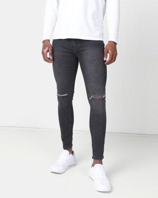 6b70b8837f K-Star 7 Jack Super Skinny Stretch Jeans Black