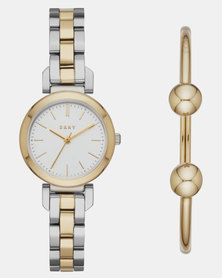 Ellington Watch and Bracelet Set Gold and Silver-plated