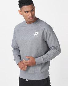 Lotto Performance M Marl Crew Neck Smart Sweatshirt Grey