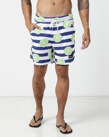 Custom Apparel Hybrid Board Shorts - Limes
