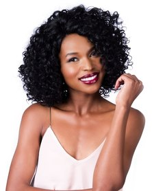 Spice Girls Lotas 3005 Kinky Curly Front Lace Wig #1B