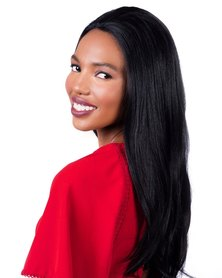 Spice Girls Tulip 209 Straight Front Lace Wig #1B