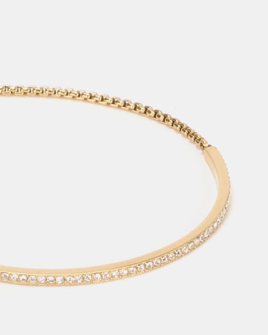 Michael Kors PVD Gold-plated Brilliance Bracelet Gold