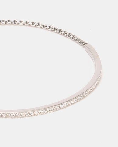 e1b19a7162b4 Michael Kors PVD Silver Plated Brilliance Bracelet Silver | Zando