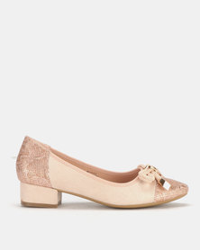 Butterfly Feet Maisie Slip On Pumps Salmon