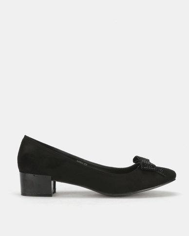Butterfly Feet Patricia Block Heel Black