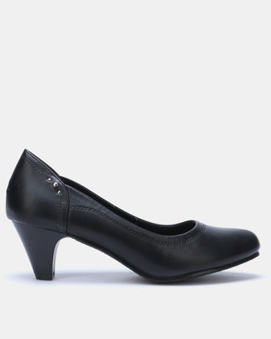 Butterfly Feet Elloise Slip On Heel Black