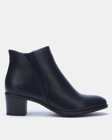 Butterfly Feet Harlow 2 Ankle Boots Navy