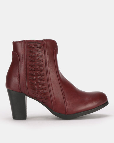 Butterfly Feet Harriet 2 Ankle Boots Burgundy