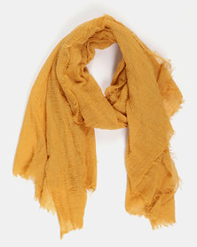 Valenci Crushed Cotton Mustard Hijab