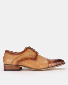 Anton Fabi Pepe Lace Up Formal Camel