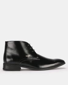 Anton Fabi Benito Lace Up Boots Black