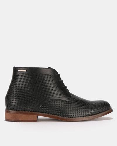 a31e38a2802 Frank Wright Cypress Leather Brogue Boots Black | Zando