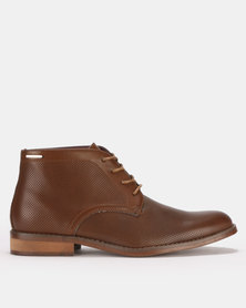 Anton Fabi Pulido Lace Up Boots Brown