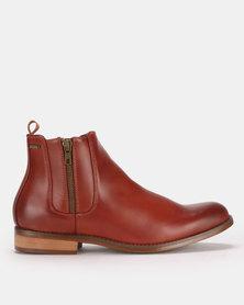 Anton Fabi Pulido Slip On Boots Brown