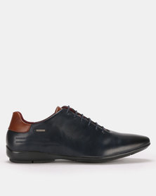 Anton Fabi Zuber Formal Lace Up Navy/Brown