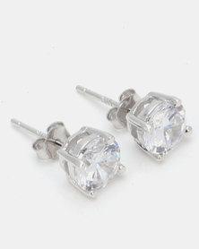 Miss Maxi Sterling Silver Stud Earrings Silver
