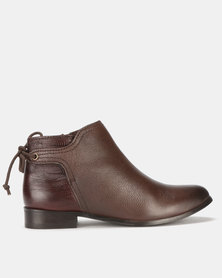 Step On Air Meeka Leather Ankle Boots Choc