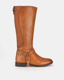 Step On Airs Gayle Leather Long Boots Tan