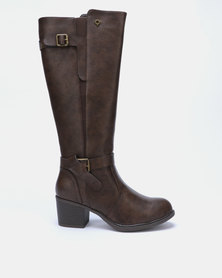 Bronx Women Chante Long Boots Choc