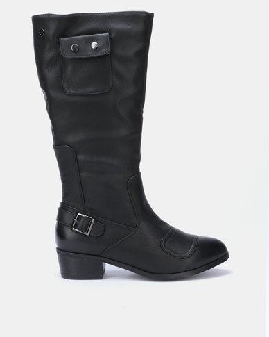 Bronx Women Pamelo Long Boots Black