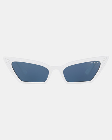 Vogue Gigi Hadid Super Sunglasses White