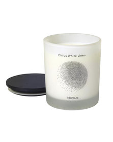blomus Scented Candle with Hardwood Lid Citrus White Linen Flavo Large