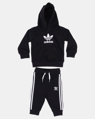 superior quality 5060b caa3f adidas Originals Trefoil Hoodie Set Black
